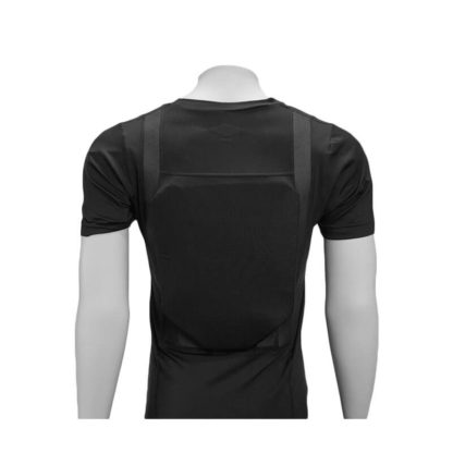 Concealed Armor Shirt Black Rear View